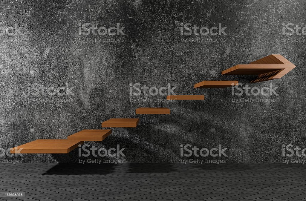 The steps to move forward stock photo