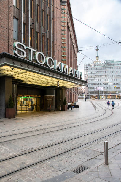 The Stockmann department store in Helsinki, Finland stock photo