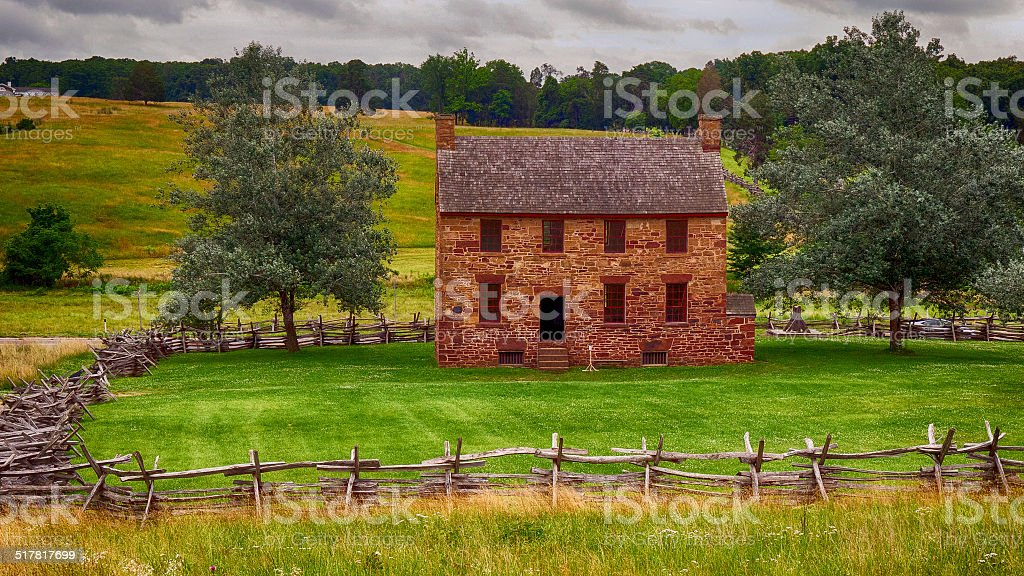 The Stone House at Bull Run Battlefield stock photo