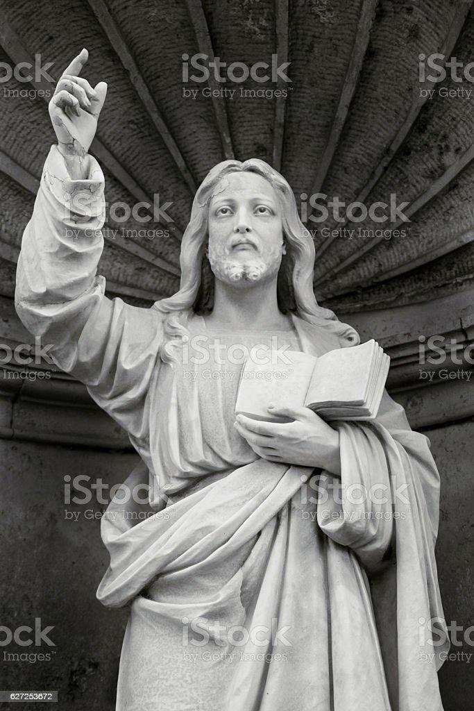 The stone monument of Jesus Christ - foto de acervo