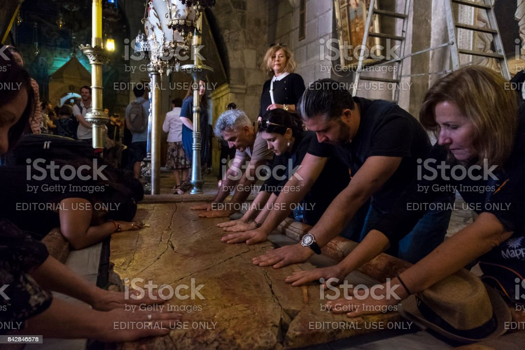 The Stone of Anointing stock photo