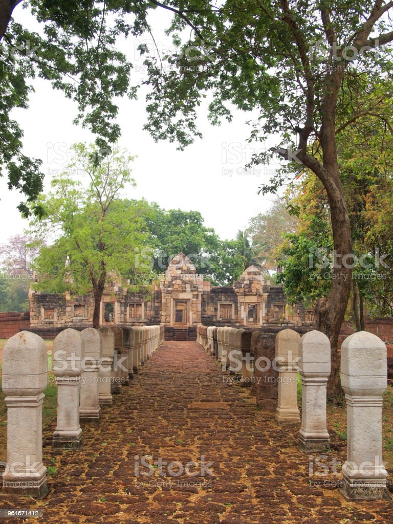 The stone path in the historical park royalty-free stock photo