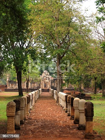 The Stone Path In The Historical Park Stock Photo & More Pictures of Alley
