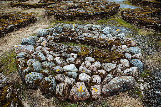 The stone tomb, Northern Europe stock photo