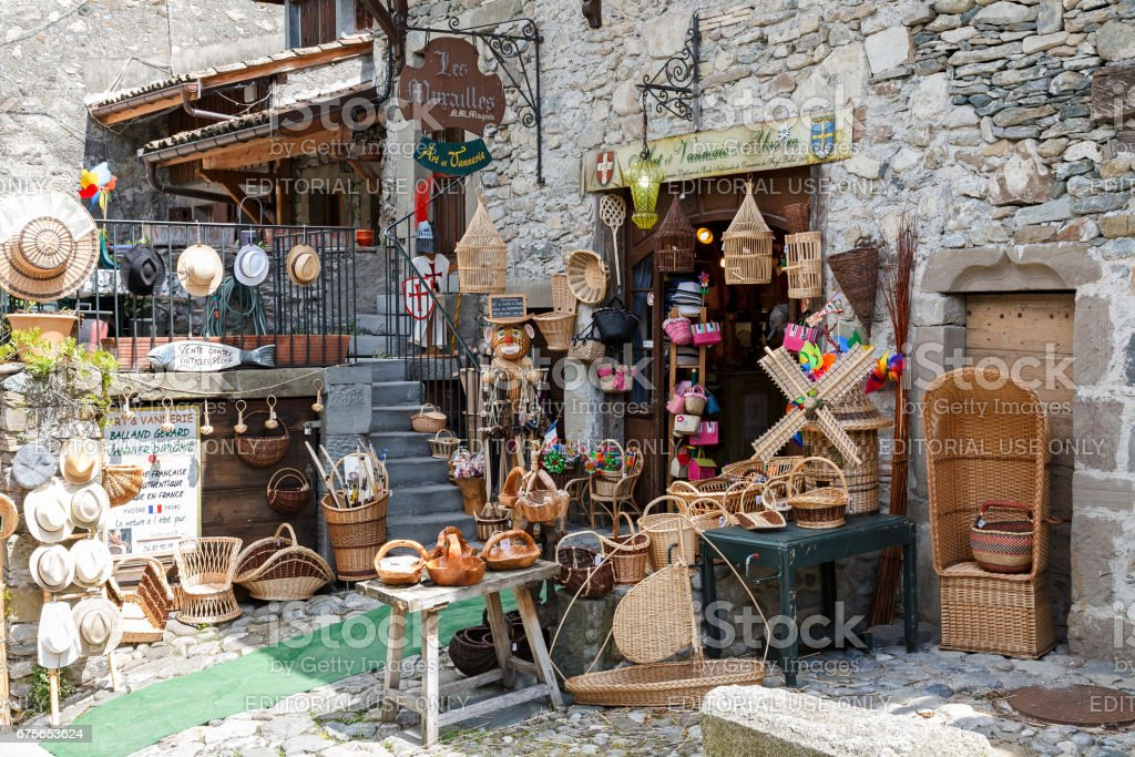 The store by the street in Yvoire royalty-free stock photo