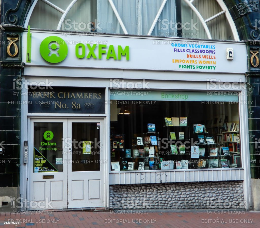 The store front of Oxfam Charity Shop on High Street