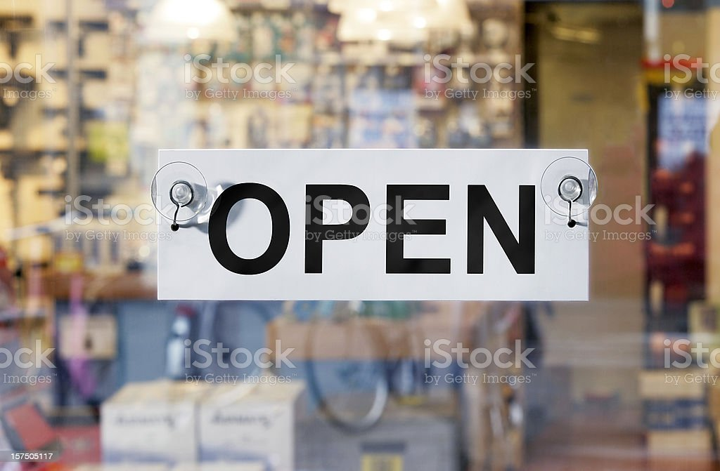 The store is open stock photo
