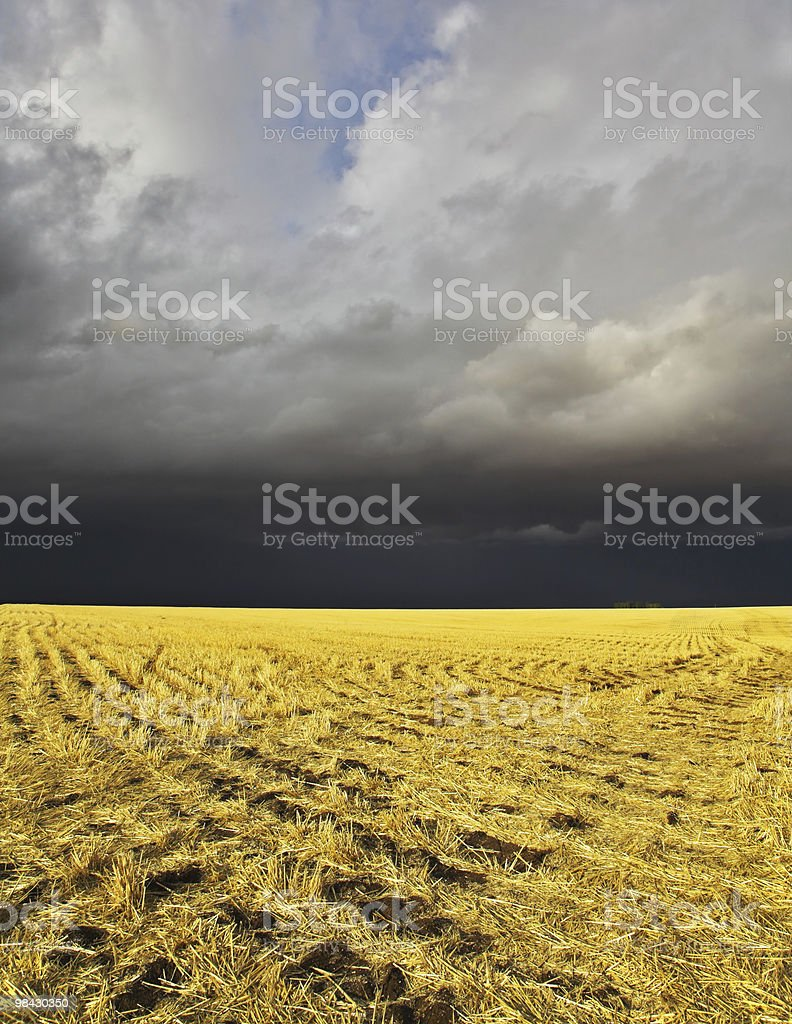 The storm in  Montana begins royalty-free stock photo