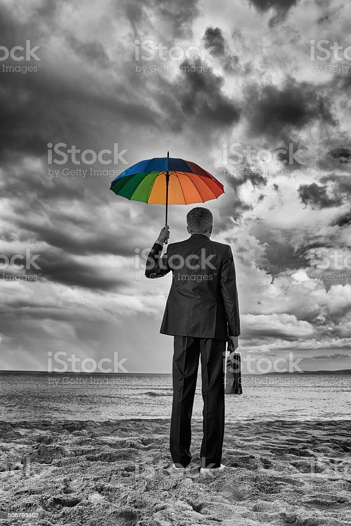 the storm is coming stock photo