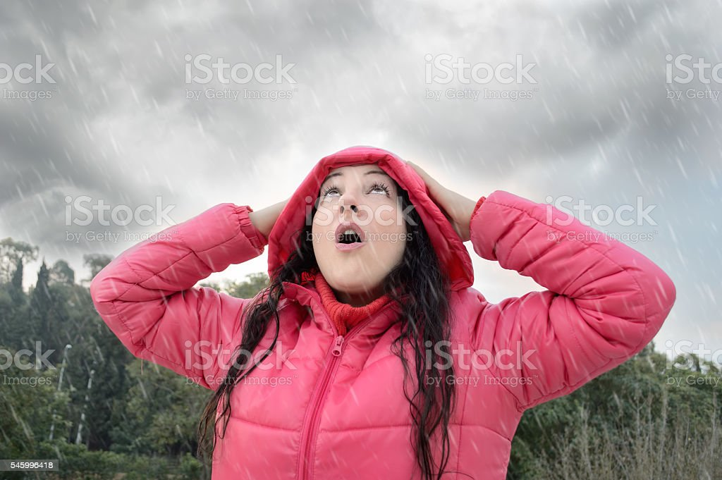 the stormy caught me stock photo