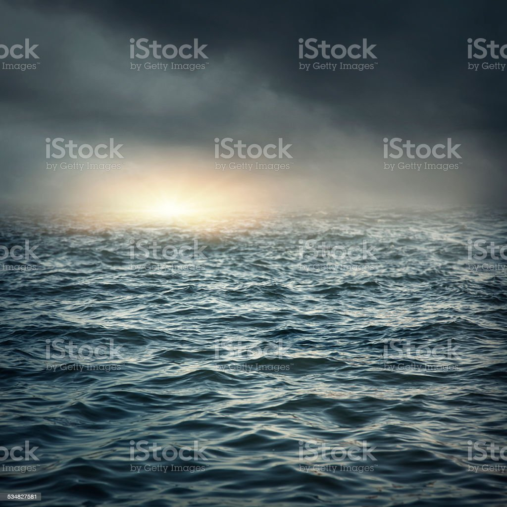 The stormy sea stock photo