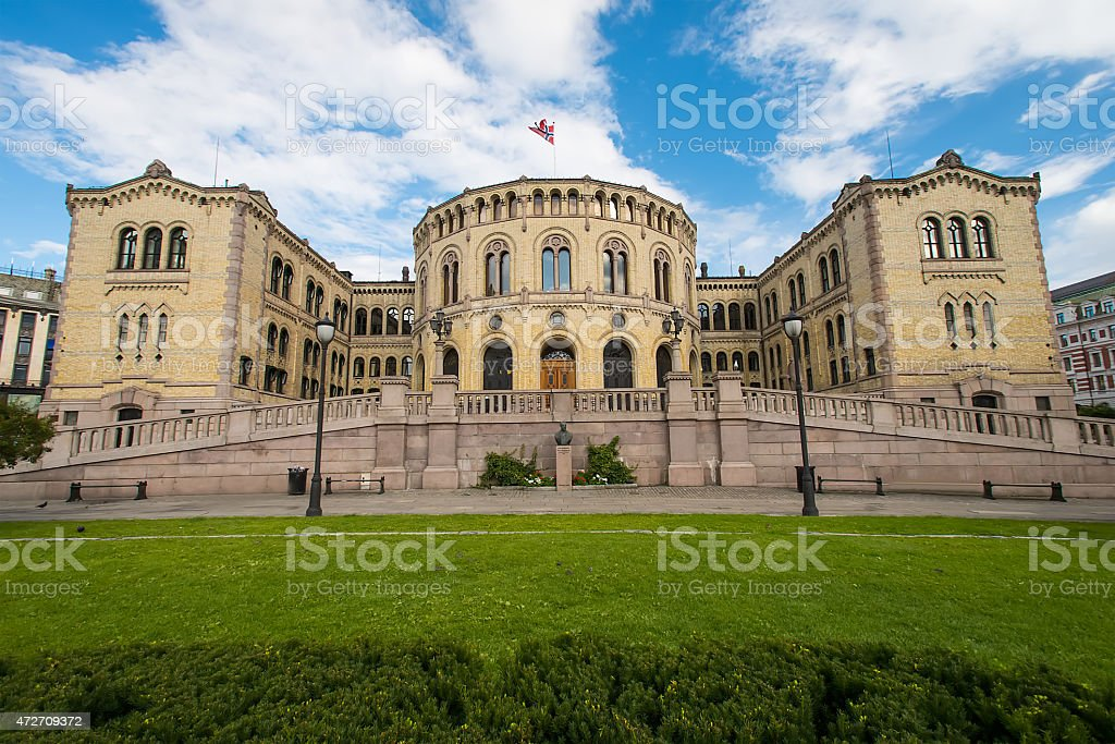 The Storting is the supreme legislature of Norway stock photo