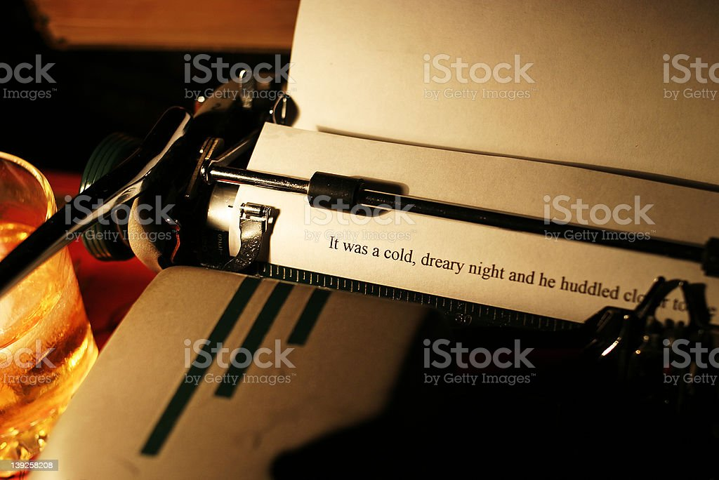 The story teller royalty-free stock photo