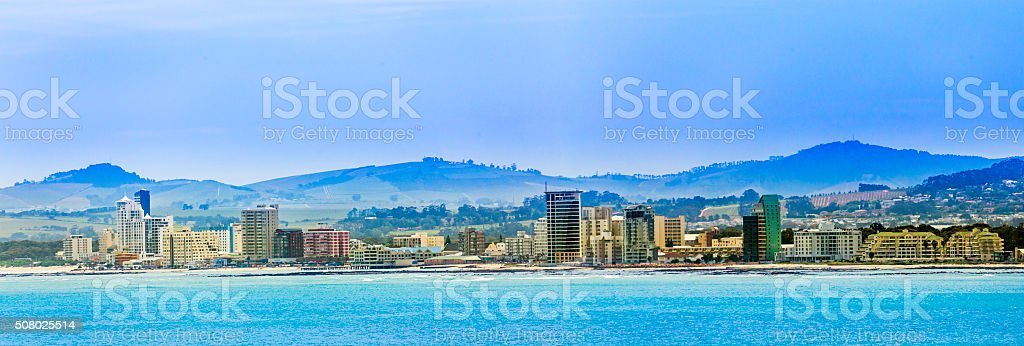 The Strand in False Bay, Cape Town stock photo
