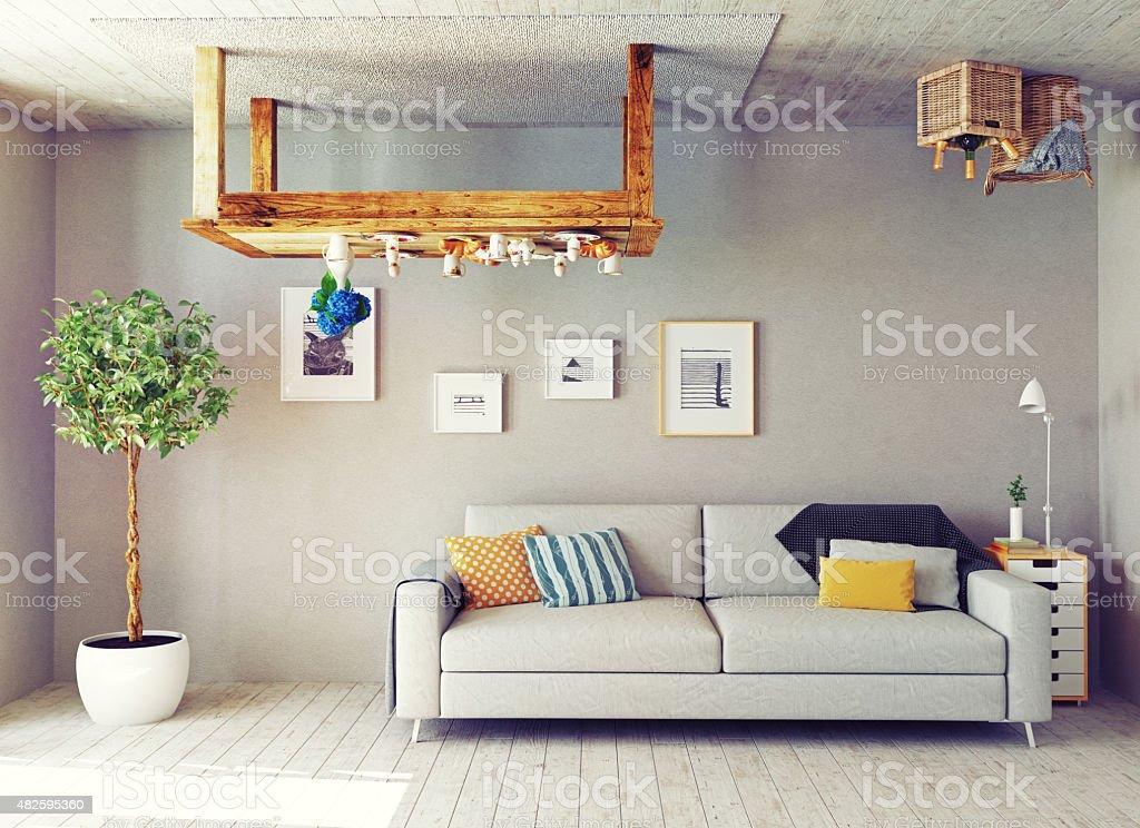 the strange  interior stock photo