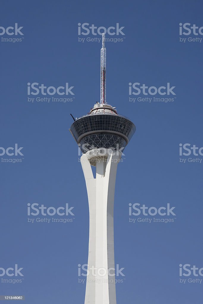 The Stratosphere tower in Las Vegas royalty-free stock photo