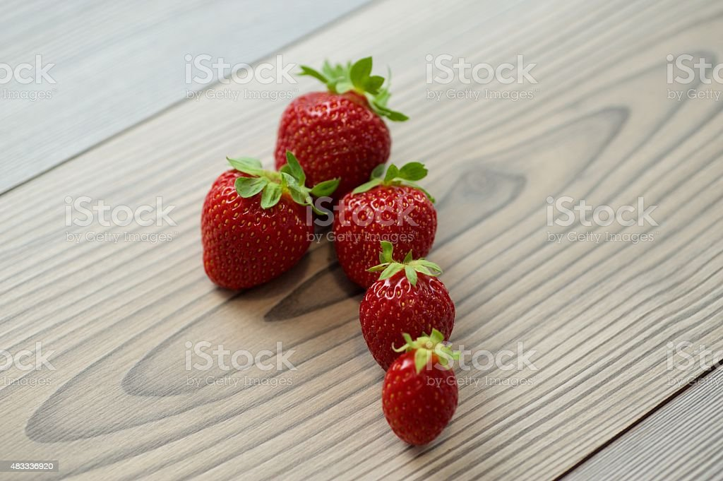 The Strawberries are the fruits of the summer in Sardinia. stock photo