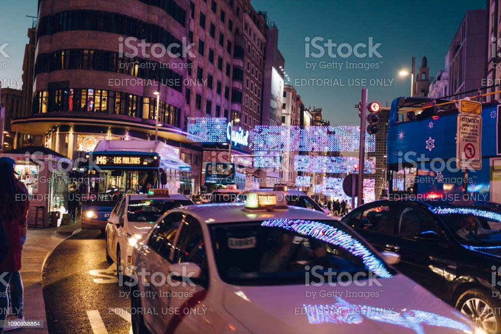 the streets at rush hour stock photo