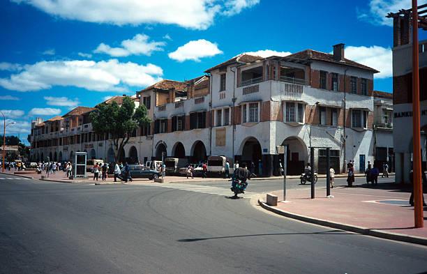 The streets of Antananarivo stock photo