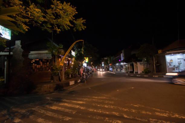 Die Straßen von Bali-Nacht – Foto