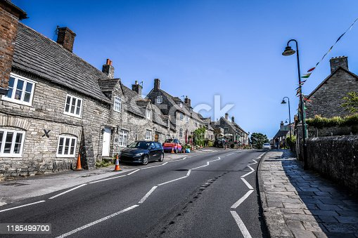 The Streets Of Corfe Village In the Morning