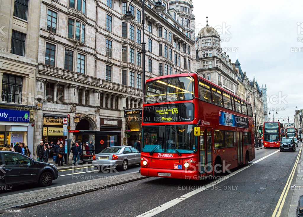 The streets of London stock photo