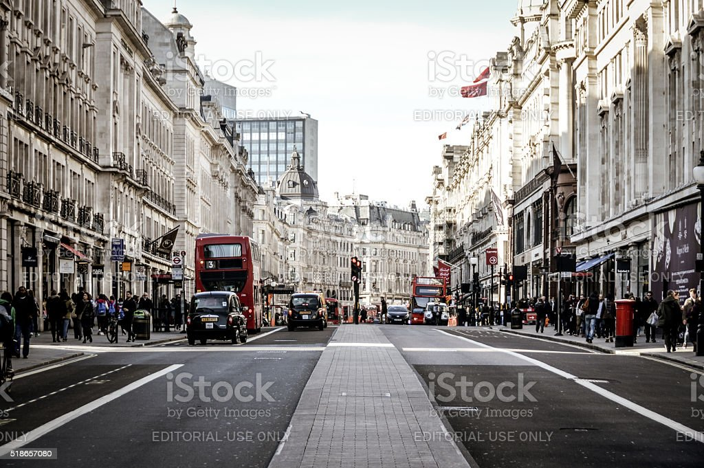 The streets of London - Regent Street stock photo
