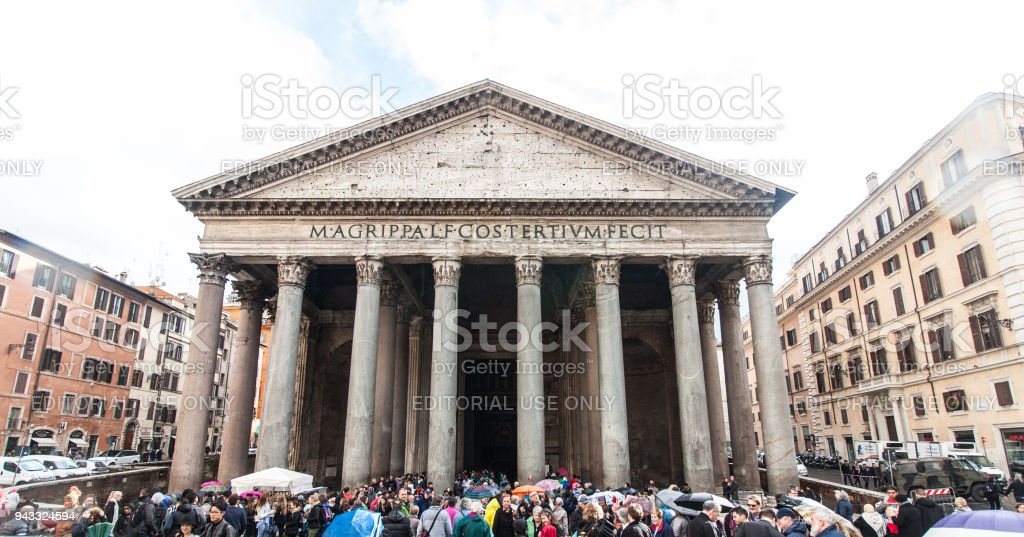 The streets of Rome stock photo