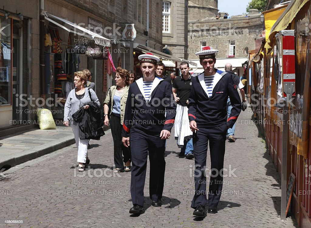 The streets of Saint Malo stock photo