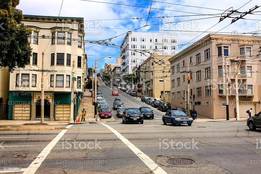 The streets of San Francisco, California stock photo
