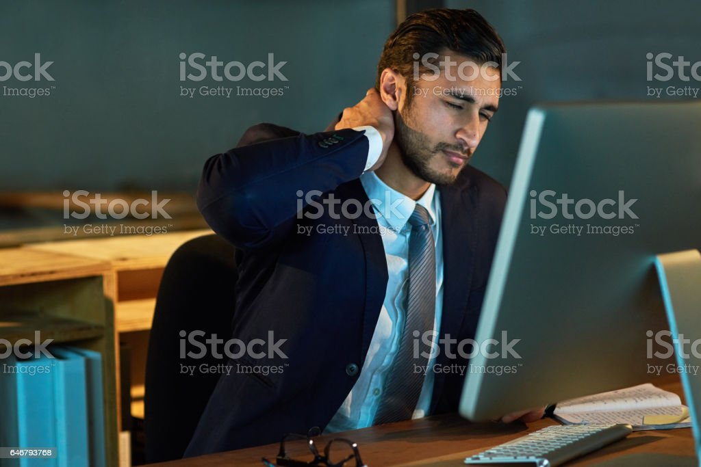 The stress just keeps piling up stock photo