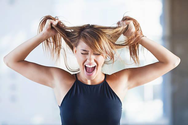 a o stress - puxar cabelos imagens e fotografias de stock