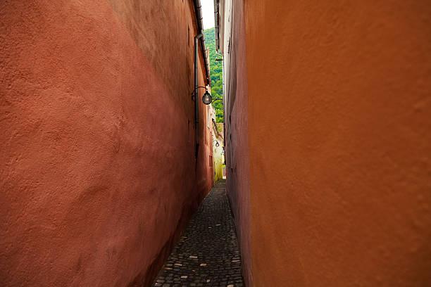 The String Street, Strada Sforii, Brasov stock photo