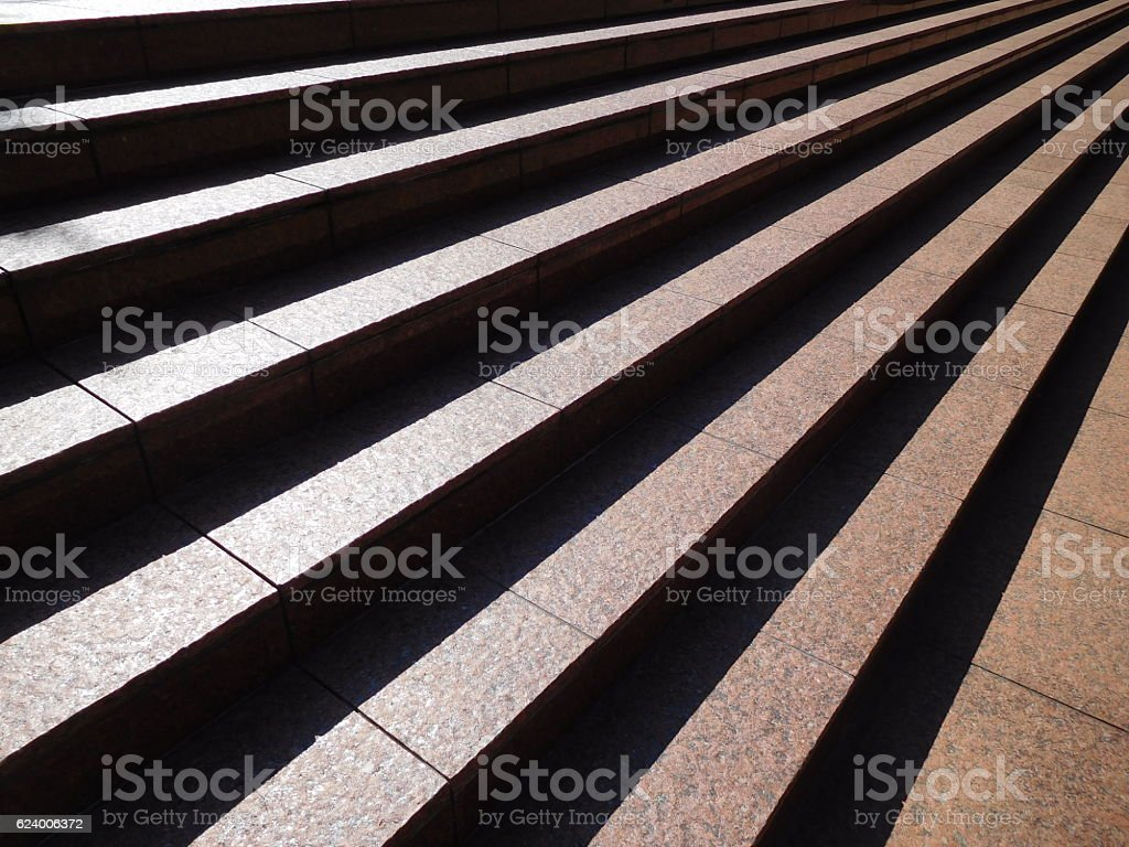 The stripe of the shining outdoor wide stair stock photo
