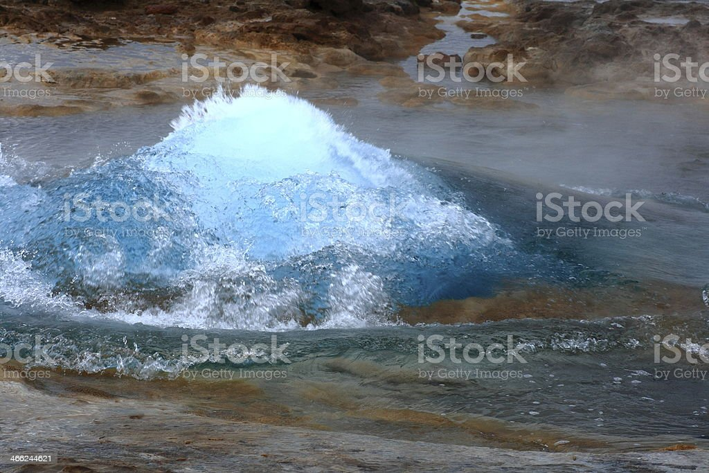 The Strokkur royalty-free stock photo