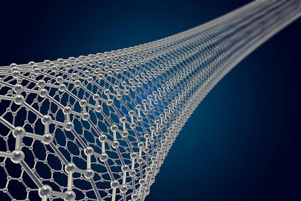 The structure of the graphene tube  nanotechnology. 3d illustration stock photo