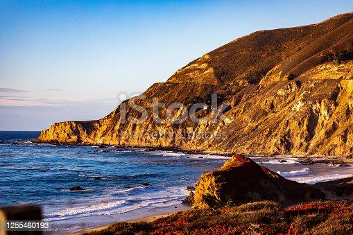 The Stunning California Coast On A Beautiful Evening
