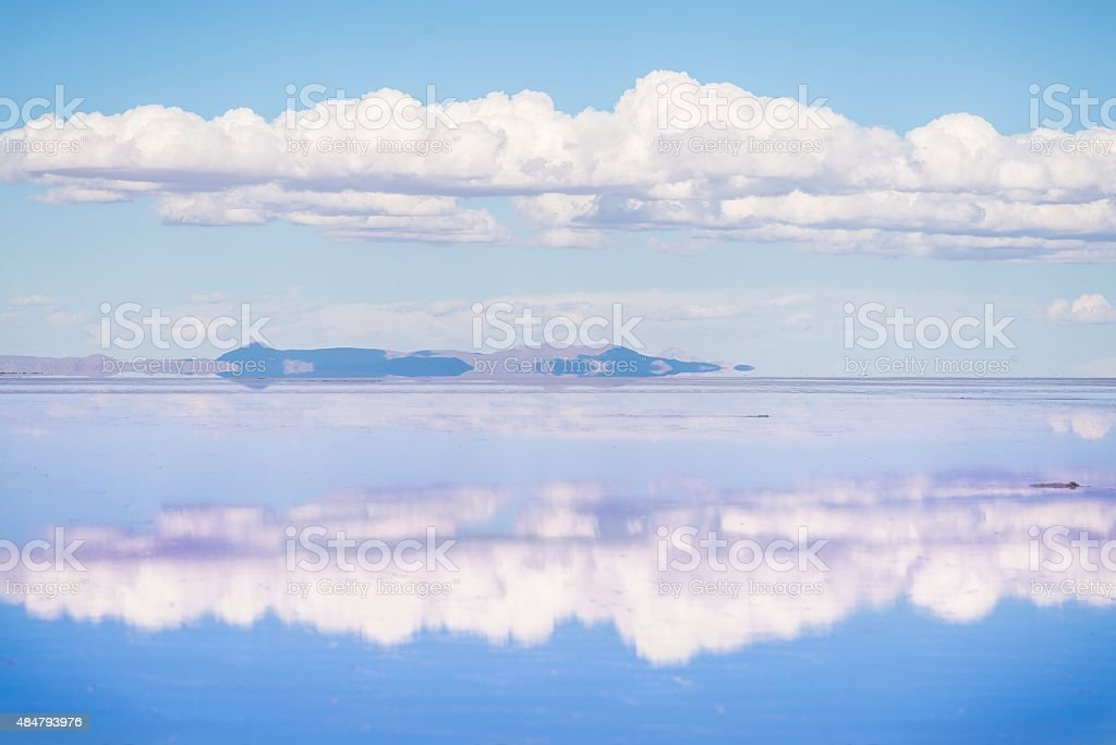 the stunning scenery of uyuni salt lake in bolivia stock photo