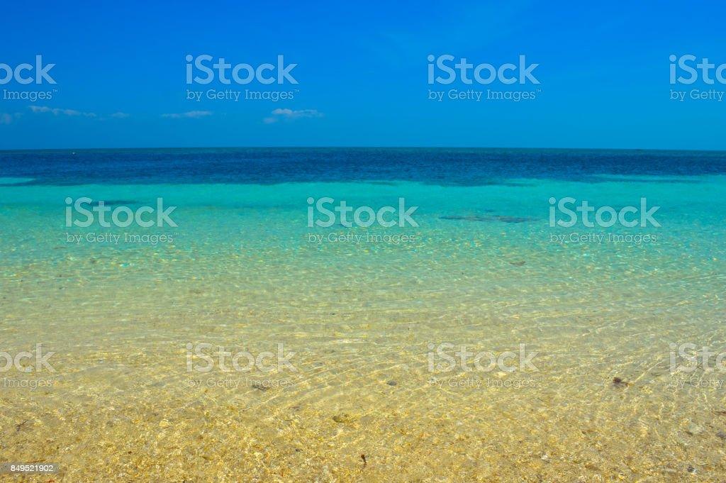 The stunning sea views of Malapascua Island, Philippines stock photo