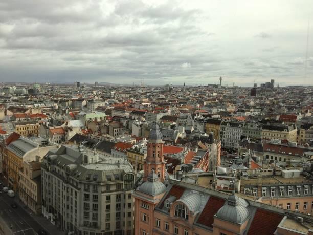 The stunning skyline of Vienna. stock photo
