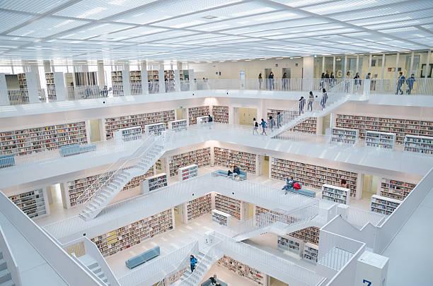 das stuttgart-öffentlichkeit library - deutsche bibliothek stock-fotos und bilder