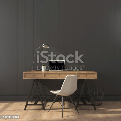 istock The stylish interior of home office 512918353