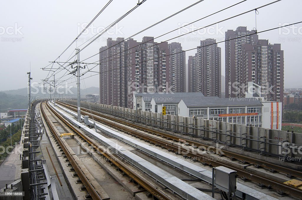 the subway line 6 in chongqing, royalty-free stock photo
