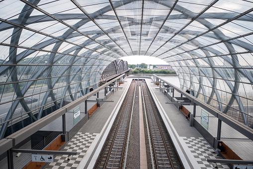 The subway station Elbbruecken in Hamburg, Germany.