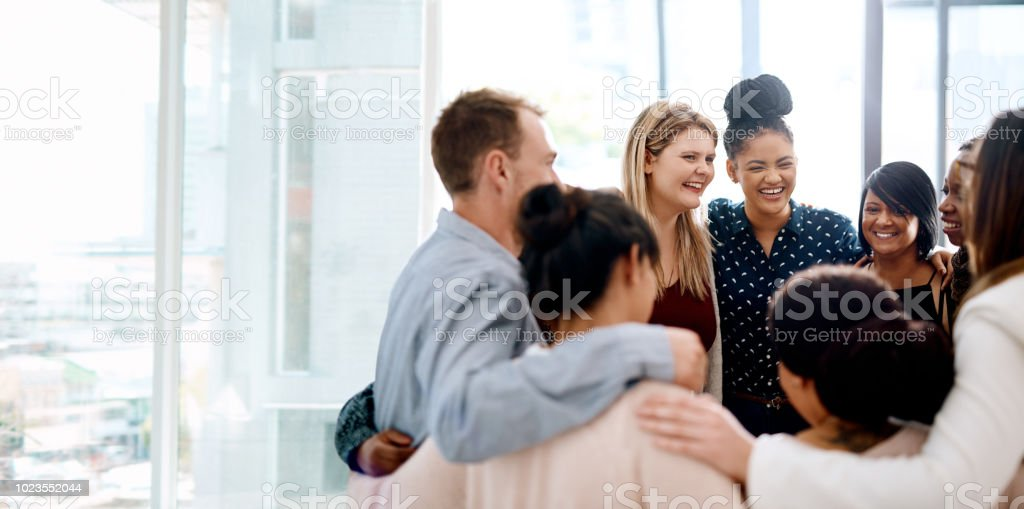 The success of a business leans on it's team stock photo