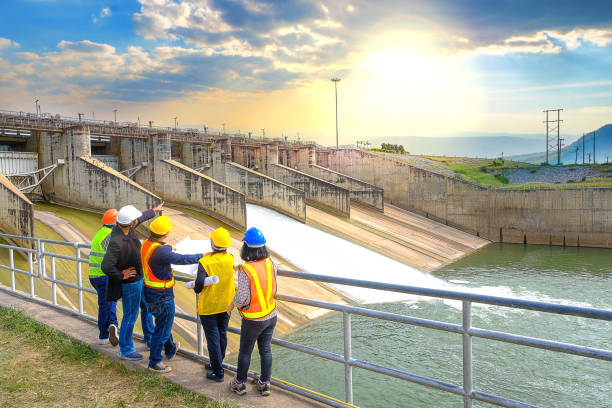 The success of the engineering team together to develop water power in the dam to generate electricity.
