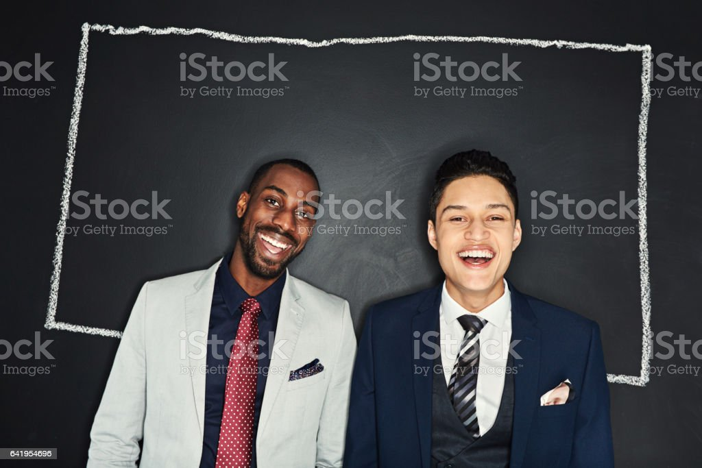 The successful are always thinking outside the box stock photo