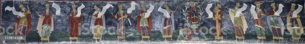 'The Sucevita Philosophers' stock photo