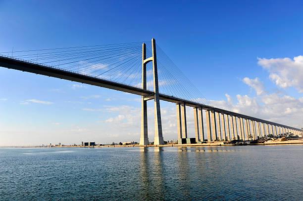 Kanału Sueskiego Bridge, Egipt – zdjęcie