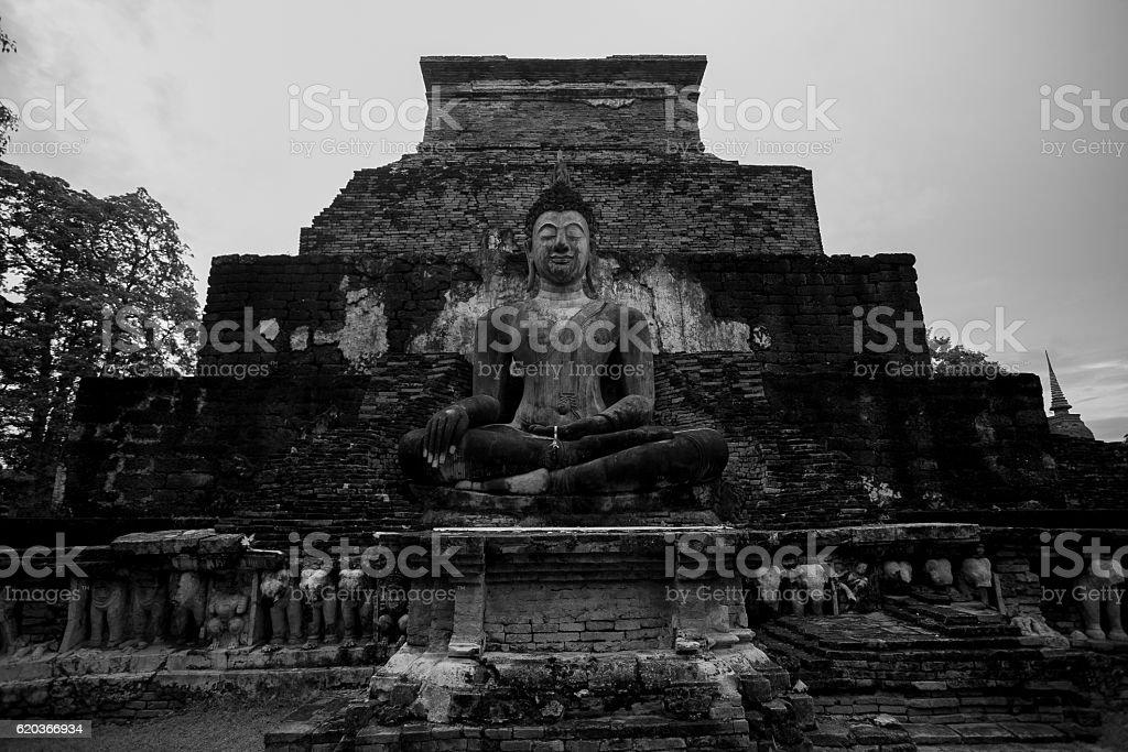 The Sukhothai Historical Par zbiór zdjęć royalty-free